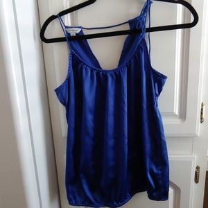 Cobalt blue satin top